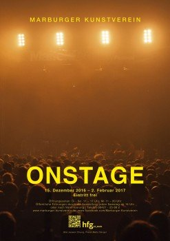 ON STAGE exhibition poster by Malte Sänger / used image by Jaewon Chung
