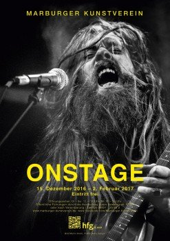 ON STAGE exhibition poster by Malte Sänger / used image by Martin Kreitl