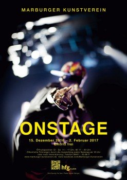 ON STAGE exhibition poster by Malte Sänger / used image by Kyung-Ho Sun