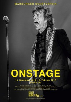 ON STAGE exhibition poster by Malte Sänger / used image by Clemens Mitscher