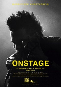ON STAGE exhibition poster by Malte Sänger / used image by Tilmann Aechtner